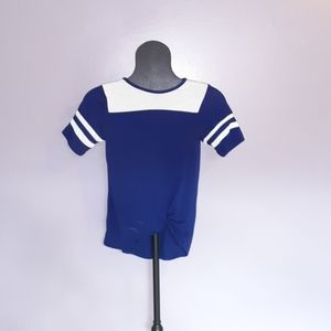 Poof! Shirts & Tops - Navy Striped Tee